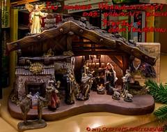 Weihnachtsgrüße von Stefan's Gartenbahn (Stefan's Gartenbahn) Tags: weihnachten xmas weihnachtsbaum krippe maria josef hirte schaf tier ochse kamel könige heilige merry christmas joyeux noël pola faller baum engel joseph christkind jesus gartenbahn figur figuren frohe esel polag