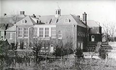Allerton House rear of home & Stable completed, Monticello, IL c1900 (RLWisegarver) Tags: piatt county history monticello illinois usa il