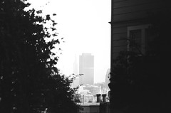 downtown in the distance / (luustra) Tags: white black ql ft canon 50 plus panf ilford