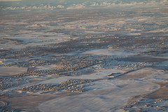 Aerial views (Lucie Maru) Tags: winter snow shadows sunrise flight flying fromabove above earth windowseat towns cold mountains colorado
