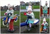 Chilly park time.. (Mike-Lee) Tags: bess elisabethrosalee sheffield dec2017 park collage picasa chilly