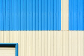 Blue and white geometry