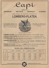 Lomberg Plates Advertisement 1922 (01) (Hans Kerensky) Tags: enst lomberg plates platten langenberg rheinland advertisement lux nl july 1922