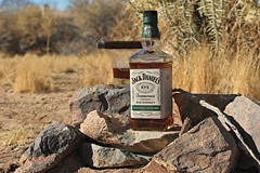 Rye on the Rocks (Forklift Luke) Tags: ribbet rock jackdaniels rye whiskey liquor alcohol drink drinking beverage jack rocks cigar glass desert cactus tennesseesquire