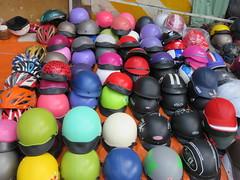 Vietnam - South Vietnam - Ho Chi Minh City - Moped helmets (JulesFoto) Tags: vietnam hochiminhcity saigon mopedhelmets