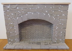 3. 1:6 Stone Fireplace (Foxy Belle) Tags: barbie 16 scale fireplace tutorial how make craft diorama playscale egg carton stone brick realistic