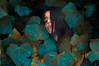 Under the leaf // Debajo de la hoja (Kathy Chareun) Tags: 365 art arte ps photoshop challenge reto woman mujer femme girl chica lr lightroom leaf hoja green verde yellow autorretrato autoretrato selfportrait nature naturaleza sweater pulover face cara hair pelo