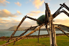 An Installation Art Work by the Ocean (milton sun) Tags: modernsculpture networkers irenehoppenbery huanbaorepopulationpark 基隆環保復育公園 keelungcity taiwan 九份 northerncoast sceniccoast dusk seascape bay ngc bayarea wave ocean shore seaside coast landscape outdoor clouds sky water rocks mountains rollinghills sea sand beach cliff nature grass