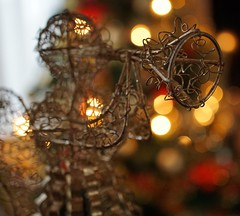 Smile on Saturday: angels on earth (quietpurplehaze07) Tags: smileonsaturday angelsonearth bokeh lights christmastree