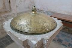 Abbaye de Pontigny - Baptistère (godran25) Tags: europe france bourgogne burgundy yonne pontigny citeaux cistercien cisterciens cistercians abbaye abbey église church abbatiale baptistère baptême cuivre sculpture couvercle pierre