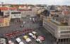 Halle/Saale von oben (Helmut44) Tags: deutschland germany sachsenanhalt mitteldeutschland halle vogelperspektive marktplatz strassenbahn markttreiben haus gebäude