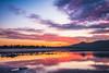 (Ignacio Ferre) Tags: embalsedesantillana reservoir embalse madrid water agua landscape paisaje sunset dusk puestadesol anochecer cielo sky nikon españa spain rojo red serenidad lake lago ríomanzanares