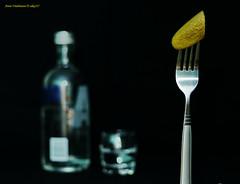 pickle (aika217) Tags: pickle canon eos 77d ef50mm f18 stm bottle glass vodka fork