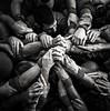 Mans . Hands  ( Humantower / Castellers ) (Alex Nebot) Tags: pinya mans manos castellers castells humantowers força seny equilibri vendrell nens nikon sigma people catalonia catalunya tradicions cultura blackanwhite