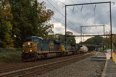 CSX 742 @ Woodbourne, PA (Dan A. Davis) Tags: csx freighttrain locomotive railroad train woodbourne pa pennsylvania es44ah cw44ah et44ah q404