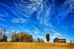 THE HOUSE ON THE HILL (NC Cigany) Tags: country farm rural blue sky house abandoned