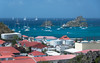 Les Gros Islets (Ben_Senior) Tags: stbarts stbarths island stbarthelemy stbarthélemy caribbean frenchcaribbean frenchwestindies tropical blue water aqua sky cloud puffy cumulus bright sunlight paradise bensenior vacation tourism tourist bay nikond7100 nikon d7100 boat land landscape seascape sea harbour rock rocks isle ile building buildings city town gustavia