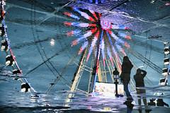 Place de la Concorde (erichudson78) Tags: france iledefrance paris8ème placedelaconcorde reflection reflets eau water canoneos5d canonef24105mmf4lisusm funfair manège streetphotography puddle flaque scènederue