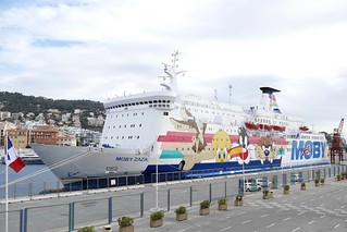 Corsica Ferry Moby Zaza in the port of Nice France