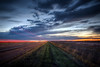 Sunset along the Highway (donnieking1811) Tags: colorado kansas sunset highway interstate trafficlighttrails fields outdoors grass sky clouds hdr canon 60d lightroom photomatixpro
