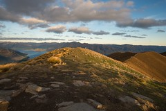 NZL / Isthmus Peak (steiner_roman) Tags: nz nzl neuseeland new zealand nature wonder sound berg gras landschaft himmel baum wald lake wanaka hawea see aussicht view peak nikon storm sturm isthmus