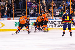 "Kansas City Mavericks vs. Colorado Eagles, December 16, 2017, Silverstein Eye Centers Arena, Independence, Missouri.  Photo: © John Howe / Howe Creative Photography, all rights reserved 2017. • <a style=""font-size:0.8em;"" href=""http://www.flickr.com/photos/134016632@N02/38428186604/"" target=""_blank"">View on Flickr</a>"