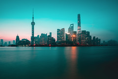 Shanghai city skyline in the morning, Shanghai China (Patrick Foto ;)) Tags: architecture asia attraction beautiful building business central china chinese city cityscape copyspace district downtown dusk evening famous finance financial highrise huangpu landmark light lujiazui metropolis modern morning night office oriental panorama pearl pudong reflection river scene shanghai sky skyline skyscraper tall tourism tower travel twilight urban view vintage water waterfront shanghaishi cn