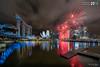 Marina Bay Singapore Countdown 2018- 2nd Firework (leslie hui) Tags: marinabay newyear sonya7rii sonyalpha city water marinabaysands singapore cityscape buildings fireworks singaporefinancialdistrict architecture