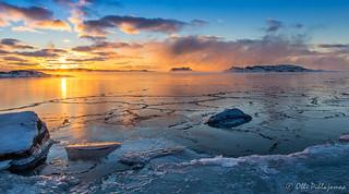 Winter sunset at Pampskatan - Talvinen auringonlasku Pampskatanilla