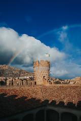 Castillo de Manzanares El Real (Hilari Flynn) Tags: rainbow landscape madrid spain castillo manzanares canon canon5dmarkii sky colors blue
