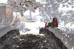 Waiting for the snowfall (cejalaval) Tags: secondlife sl winter willowdale snow shadows scenic redhead brii