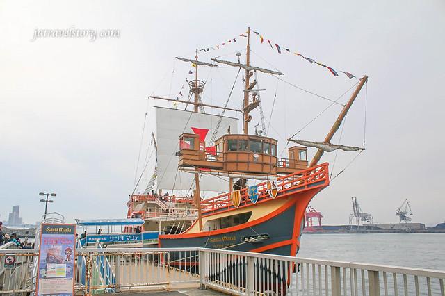 【日本大阪旅遊景點】帆船型觀光船聖瑪麗亞號&天保山摩天輪(天保山大觀覽車)-大阪周遊卡免費景點 (含票價資訊) @J&A的旅行