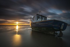 Essex Thorpe Bay. (daveknight1946) Tags: essex southend thorpebay riverthames longexposure leefilters clouds greatphotographers boatsgallery sundaylights water