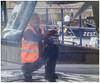 The Hull Blaster (tramsteer) Tags: tramsteer work portishead boat hull water spray jet marina