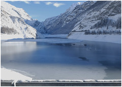 Winter tales — A beautifull year 2018 to all of you and a better world for every living being. (michelle@c) Tags: alps chambon dam artificial lake river romanche ice snow mountains nationalparkoftheecrins oisans isère 2018 michellecourteau