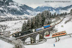 2017.12.28 | 189 027 & 193.770 | Bad Hofgastein (Davee91) Tags: bad gastein locomotion db cargo rostock intermodal tauern pass bridges trains güterzug trainz zug dorfgastein winter dasgoldberg