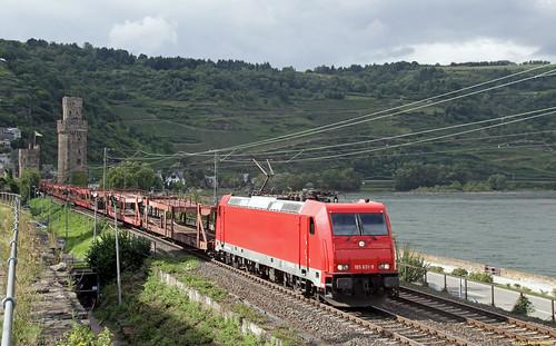 20170819 EccoRail 185 631 + autotrein, Oberwesel (D)