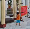 Strong boy, big gong. (gerard eder) Tags: world travel reise viajes asia southeastasia birmania birma burma myanmar yangon shwedagon shwedagonpagoda pagoda temple templos tempel buddha buddhist people peopleoftheworld children childrenoftheworld gong outdoor sacral