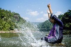 NISHAT (iam_aanwar) Tags: bangladesh sylhet nature jaflong water photography landscape sky blue green yellow people