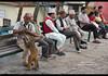 Hanging out with the monkeys, Swayambhunath, Kathmandu, Nepal (jitenshaman) Tags: travel destinations worldlocations asia asian nepal nepali kathmandu man tradition traditional swayambhunath monkeytemple temple monkey monkeys animal animals primate primates feed friend friends bench social fun funny pet public park
