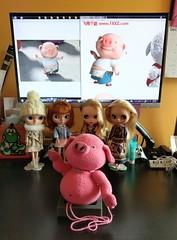 IMAG5192 (Mingle Doll 鳴娃娃) Tags: crochet amigurumi cutommade crochetdoll piggieandlambie 豬仔羊妹