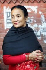 Nepaĺi lady (posterboy2007) Tags: kathmandu nepal hindu lady street portrait red sony