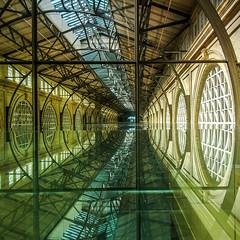 Mirror in the Bathroom (Thomas Hawk) Tags: america california ferrybuilding sanfrancisco usa unitedstates unitedstatesofamerica westcoast architecture fav10 fav25 fav50