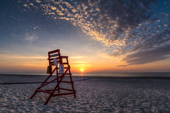 Tower 3 - Fernandina Beach, FL (ChuckPalmer {cepalm}) Tags: fernandinabeach sunrise travellifeguard clouds florida sand sky sun outdoor travel