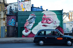 DSC_6119 London Shoreditch Great Eastern Street Artwork Santa Claus also known as Saint Nicholas Father Christmas or simply Santa (photographer695) Tags: london shoreditch great eastern street artwork santa claus known saint nicholas father christmas or simply