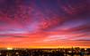 Spectacular show at dusk (Astro☆GuiGeek) Tags: sunset cloudsstormssunsetssunrises red sky dusk colors clouds normandy caen coucherdesoleil soleil sun ciel cieldenuit skyatnight skyscape 600d eos600d canoneos600d canonphotography calvados town city ville astroguigeek