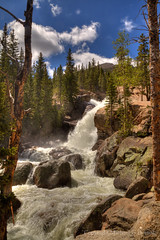 Alberta Falls, Rocky Mountain National Park (mghornak) Tags: albertafalls rockymountainnationalpark water waterfall canon canoneos5dmarkii hdr landscape june2016