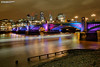 Southwark Bridge London (Nigel Blake, 15 MILLION views! Many thanks!) Tags: southwark bridge london nigelblake nigel nigelblakephotography cityatnight night nighttime dark dusk evening skyline landscape cityscape
