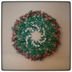 Merry Christmas!   (and happy (belated) Hanukkah! ) (sklar) Tags: lego moc winter christmas wreath