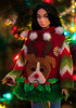 Merry Christmas! (sadeyeddoll) Tags: uglysweater christmas tree lights multicolored sequined sad dog reindeer askanygirl integritytoys poppyparker doll portrait